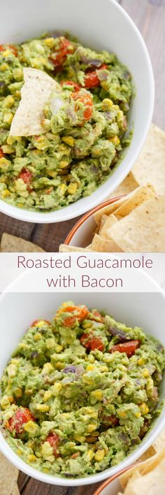 A summer dip that is fun and flavourful, this Roasted Guacamole with Bacon is sure to win over all your guests (if it even makes it to them!)