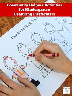 Community Helpers Activities for Kindergarten Featuring Firefighters Community Helpers Activities, Preschool Learning Activities, Writing Activities, Teaching Kids, Preschool Age, Preschool Ideas, Book Projects, Arts And Crafts Projects, Fire Safety For Kids