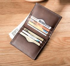Overview: Design: Handmade Leather Mens Cool Slim Leather Wallet Men Small Wallets Bifold for MenIn Stock: Ready to Ship days)Include: Only WalletCustom: Best Leather Wallet, Leather Wallet Pattern, Best Wallet, My Wallet, Custom Leather, Leather Men, Handmade Leather, Leather Wallets For Men, Leather Restoration