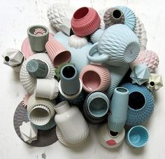 Porcelain homewares by Lenneke Wispelwey