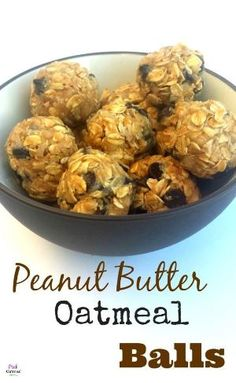 Peanut Butter Oatmeal Balls - 1 cup oatmeal, 1/2 cup honey, 1/2 cup creamy peanut butter, 1/4 cup ground flax meal, Mix all together, form balls, refrigerate. by cecilia