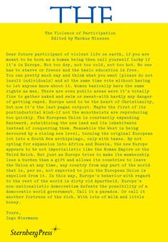 Sternberg Press - The Violence of Participation
