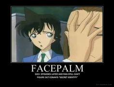 detective conan funny | Detective Conan Facepalm by xProudTreeHuggerx