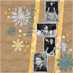 """My Boys"" Digital Scrapbooking Layout by Jan Hicks"