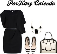 """""""Blanco Negro!!"""" by kary-caicedo on Polyvore"""