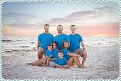 beach portraits, beach pictures, sunset, family portraits, family poses, blue, kids,