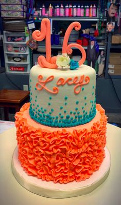 Sweet 16 Cakes, Birthday Cake, Desserts, Ideas, Food, 16th Birthday Cakes, Tailgate Desserts, Birthday Cakes, Deserts