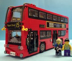 London's iconic red double-decker buses are famous around the world. The latest hybrid fleet is being rolled out now, but its diesel predecessors will be around for a while yet. This Enviro Lego Bus, Lego Truck, Lego Lego, Lego London, London Bus, Lego Mini, Lego Boards, Lego For Kids, Lego Room