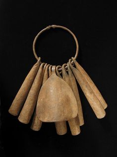 African  Tribal Art - Iron gong currency, Yoruba, early 20th century.