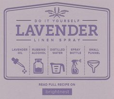 DIY Lavender Linen Spray - Recipe | Refresh your linens, curtains and carpets with this linen spray. All you need is distilled water, lavender oil and vinegar!
