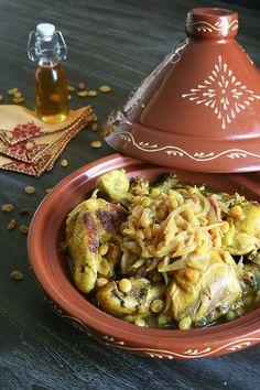 Tajine de poulet, raisins secs et huile d'argan - Passion culinaire by Minouchka