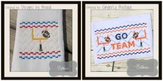 Football Goal Faux Smock Embroidery Design