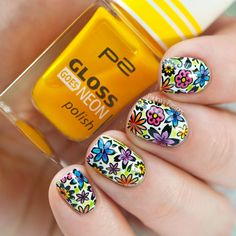 Spring Leadlight Stamping Nail Art ~ with Bundle Monster 'Colores de Carol' collaboration plate and P2 jelly polishes ~ by Paulina's Passions