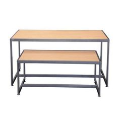 Retail Display Tables - Maple