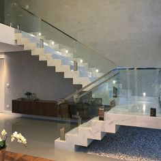 design your own home Home Stairs Design, Stair Railing Design, Home Room Design, Dream Home Design, Modern House Design, Home Interior Design, Interior Paint, House Staircase, Staircase Railings