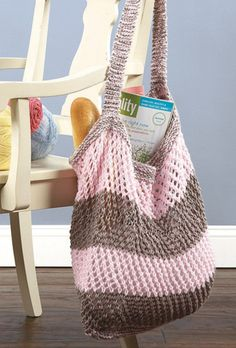 Knitted Market Bag, versatile and great for toting around all your goodies.