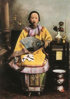 VINTAGE PHOTOGRAPHY: Chinese Woman - 19th Century
