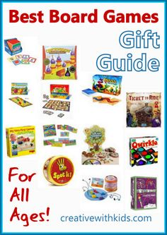 Board games for kids that are fun for the whole family to play together! These board games for toddlers to big kids are sorted by age and are fun for all. Family Board Games, Fun Board Games, Fun Games, Card Games For Kids, Games For Toddlers, Gifts For Kids, Quiet Toddler Activities, Activities For Kids, Language Activities