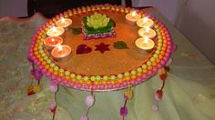Mehndi plate in pastal colours. See www.facebook.com/mehnditraysforfun