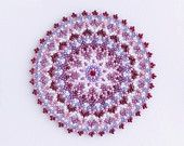 Pink doily beaded round doily red pink beaded mat by ChikaBeadwork Beaded Bags, Beaded Jewelry, Beaded Crafts, Beading Projects, Crochet Doilies, Bead Art, Bead Weaving, Pattern Making, Beading Patterns