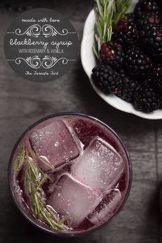 Fresh Blackberry Syrup with Rosemary and Vanilla, perfect for the gift giving seasons