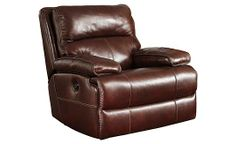 Lensar - Burgundy Swivel Rocker Recliner