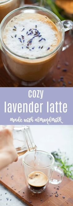 Cozy Lavender Latte with Almondmilk – The Foodie Dietitian 66 Buzzworthy Coffee Recipes Smoothie Drinks, Healthy Smoothies, Healthy Drinks, Smoothie Recipes, Drink Recipes, Healthy Foods, Healthy Life, Lavendar Latte, Lavender Latte Recipe