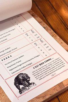 LE CHASSEUR - RESTO-BAR DE QUARTIER menu by Jean-Philippe Dugal, via Behance