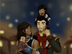 The mako family!  Legend of korra