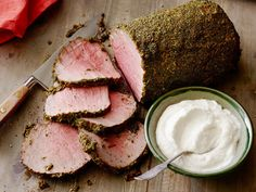 Get this all-star, easy-to-follow Herb-Crusted Roast Beef with Horseradish Cream recipe from Sunny Anderson