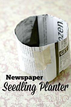 Repurposed Newspaper Seedling Planter - Little House Living