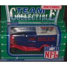 Buffalo Bills 1990 Matchbox White Rose NFL Diecast Ford Model A Truck Collectible Car by NFL  $24.89 Packaging News, Nfl Buffalo Bills, College Football Teams, Matchbox Cars, Ford Models, Ford Trucks, White Roses, Vintage Toys, Diecast