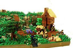 MOC Dalheim medieval village landscape 034 by shutinc, via Flickr