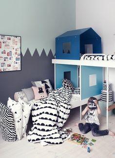 värikäs,lastenhuone,ideoita,kerrossänky