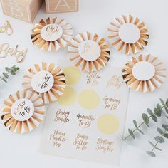 Gold Foiled Baby Shower Badge Kit // Oh Baby!// Baby shower outfit// baby shower decoration// New baby// mother to be badge Baby Shower Badge, Idee Baby Shower, Baby Shower Advice, Shower Bebe, Baby Shower Games, Baby Boy Shower, Shower Ideas, Classy Baby Shower, Baby Shower Gifts For Guests