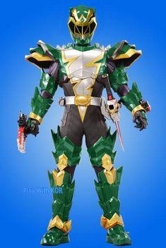 Power Rangers Fan Art, Power Rangers Dino, Ranger Armor, Go Busters, Jurassic World Dinosaurs, Baby Animals Super Cute, Green Ranger, Toys Uk, Robot Concept Art