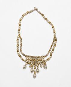 Metallic Orb Bib Necklace // #noondaychristmas