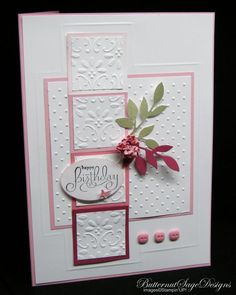 Very easy embossed card made with Cricut embossing folders and the Cricut Cuttlebug™ manual die cutting and embossing machine.