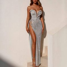 Product number brand name wikilovely occasion Banquet length And ankle packing list dress decoration Side split Dress silhouette Tight Collar Tube Elegant Dresses, Sexy Dresses, Cute Dresses, Prom Dresses, Formal Dresses, Wedding Dresses, Sexy Gown, Glamour Dresses, Reception Dresses