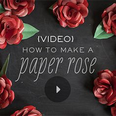 Learn how to make a paper rose with our step by step video tutorial.
