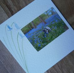 Pug card with Bluebell illustration by onelittlepug on Etsy
