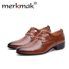 239fd14ef4d1 Merkmak Hign Quality 2018 NEW Men Flats Leather Shoes Brogue Pointed Oxford Flat  Male Casual Shoes Men s Luxury Brand Size — Apryl Mart