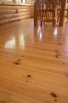 Knotty Pine Flooring & Decking Pre-finished Knotty Pine flooring is a hot item and available in 6″ width only! The pre-finished knotty pine flooring has a unique micro-chamfer running around all the edges for an easy installation and a pleasant look! It's another one of our 'nail it up and your done' products. The pre-finished …