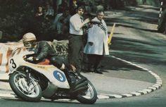 Mike Hailwood on a Honda.