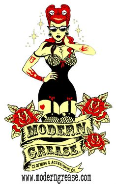 Modern Grease Clothing & Accessories Co. Modern Grease Clothing and Accessories Co. is dedicated to the fashion and styles of the 1940s  and 1950s with a stylish modern edge.