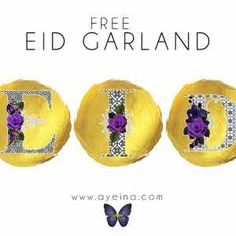 FREE EID PRINTABLE: EID GARLAND cut out - By: Ayeina, Ramadan Activities for kids, Ramadan crafts for kids
