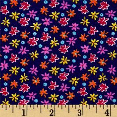 Cotton Lycra Jersey Knit Floral Purple from @fabricdotcom  This stretchy cotton jersey knit fabric features a smooth hand and 30% four way stretch for added comfort and ease. It is perfect for making t-shirts, skirts, dresses, loungewear, yoga pants and more! Colors include purple, pink, orange, blue and yellow.