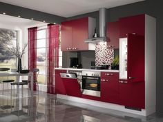 Cuisine blanche moderne façade STECIA Blanc brillant | Kitchens