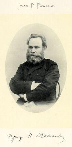Ivan Petrovich Pavlov  1849-1936. Scientifique russe. Il eut une grande influence sur l'étude de la psychologie. Il a découvert les réflexes conditionnés.