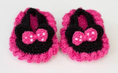 Crochet Shoes - Knitted Shoes - Minney Disney - Slippers - Baby shoes - Baby Boots - Booties - Pink Booties - Kids shoes by PeonyHome on Etsy